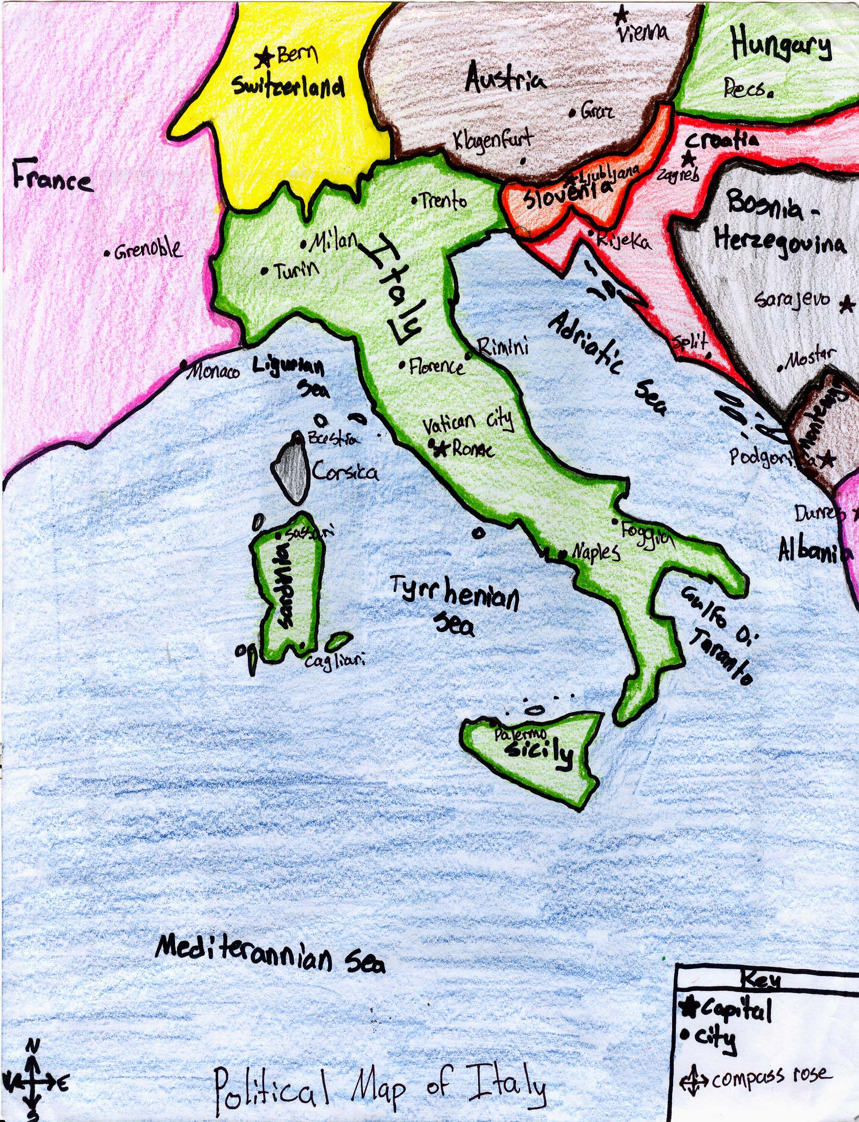 Ljhsbstark Italy Political Map - Political map of italy