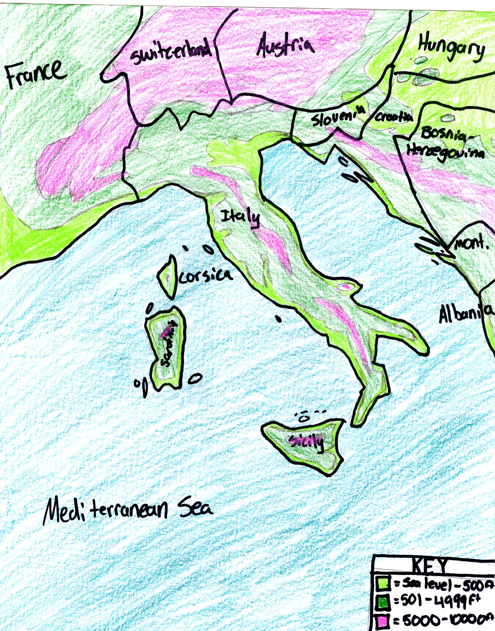Ljhsbstark Italy Physical Map - Physical map of italy